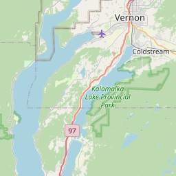 Map of Okanagan