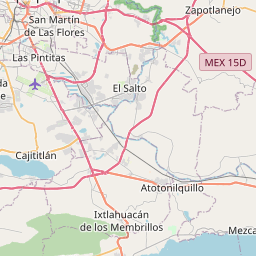 Map of Zapopan