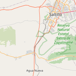 Map of Saltillo