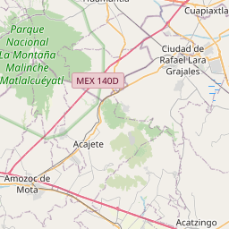 Map of Puebla