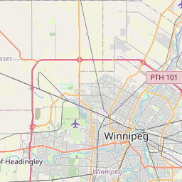 Map of Winnipeg