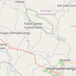 Map of Huehuetenango