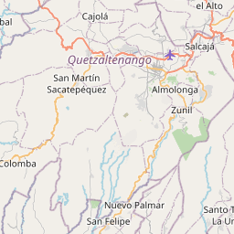 Map of Quetzaltenango