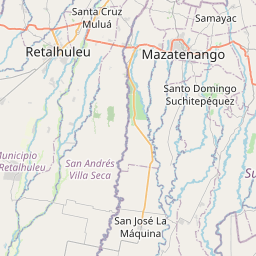 Map of Mazatenango