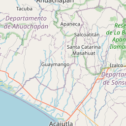 Map of Izalco