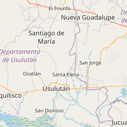 Map of Zacatecoluca