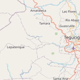 Map of Tegucigalpa
