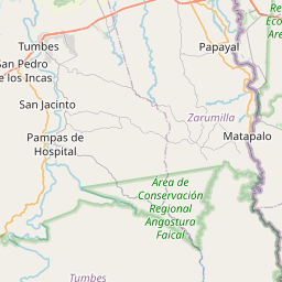 Map of Tumbes