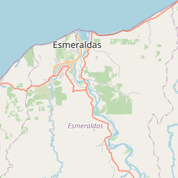 Map of Esmeraldas