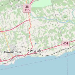 Map of Oshawa