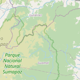 Map of Villavicencio