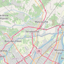 Map of Longueuil