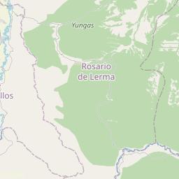 Map of Salta