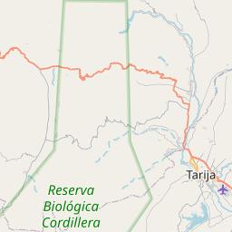 Map of Tarija