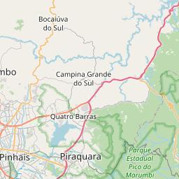 Map of Curitiba
