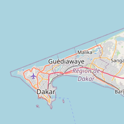 Map of Dakar