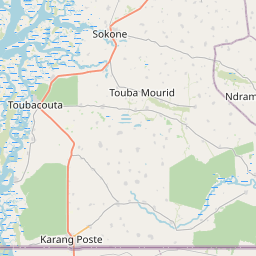 Map of Kaolack