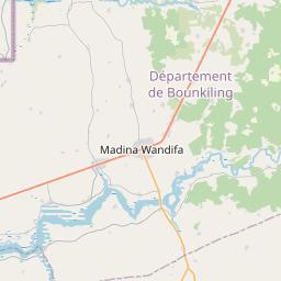 Map of Mansa