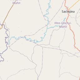 Map of Sanniquellie