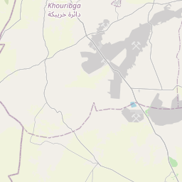 Map of Khouribga