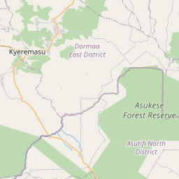 Map of Berekum