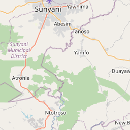 Map of Sunyani