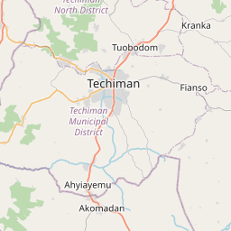Map of Techiman