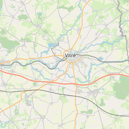 Map of Rennes