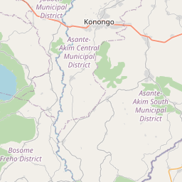 Map of Nkawkaw