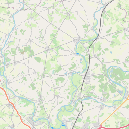 Map of Angers
