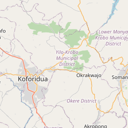 Map of Koforidua