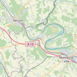 Map of Cergy-Pontoise