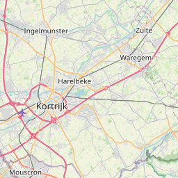 Map of Kortrijk