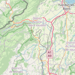 Map of Lausanne
