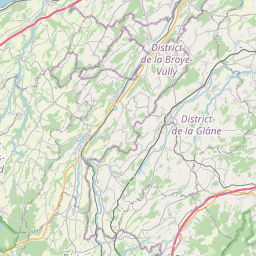 Map of Fribourg