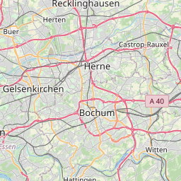Map of Gelsenkirchen