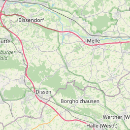 Map of Bielefeld