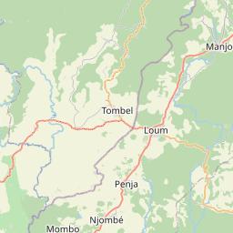 Map of Nkongsamba
