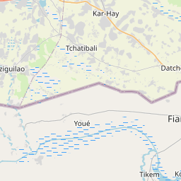 Map of Yagoua