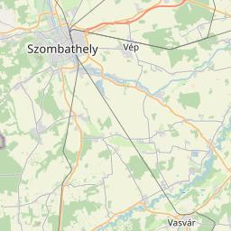 Map of Szombathely