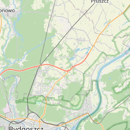 Map of Bydgoszcz