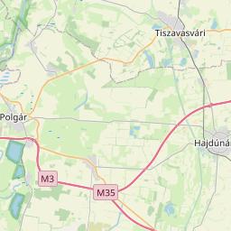 Map of Miskolc