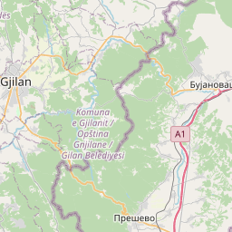 Map of Kumanovo