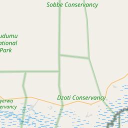 Map of Zambezi