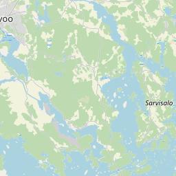 Map of Porvoo