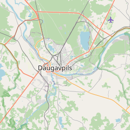 Map of Daugavpils