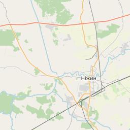 Map of Chernihiv