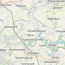 Map of Donetsk