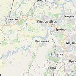 Map of Horlivka