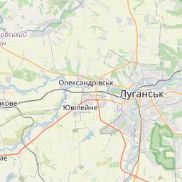 Map of Luhansk